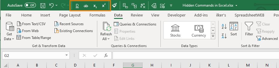 Hidden Commands in Excel 05
