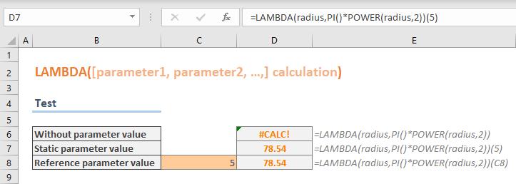 Excel LAMBDA Function Testing