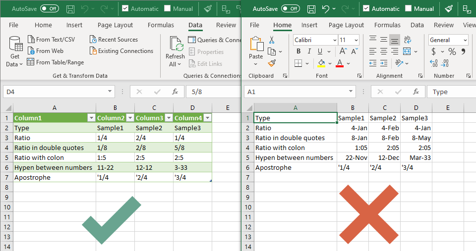 How to avoid formatting change in CSV files in Excel