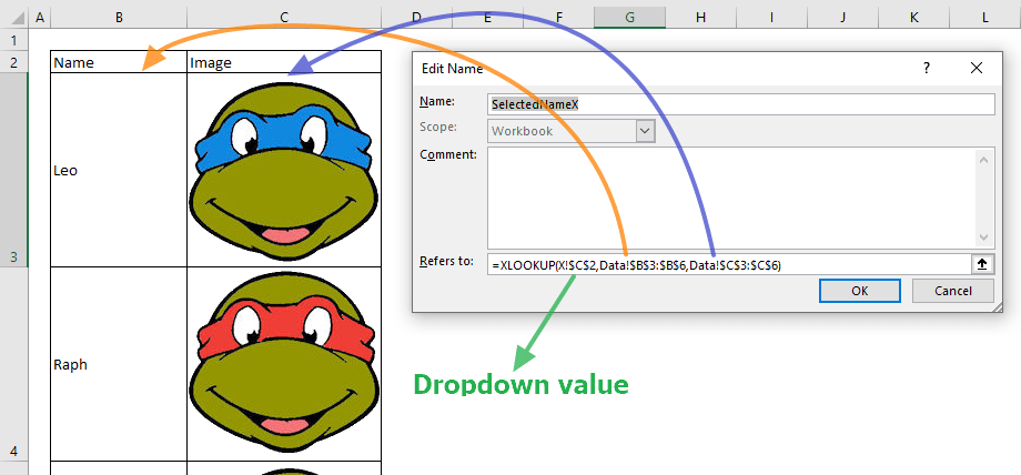 How to make image lookup in Excel 03