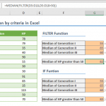 How to calculate median by criteria in Excel