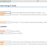 How to reverse a text string in Excel