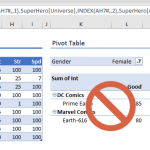 How to replace pivot tables with dynamic array formulas in Excel