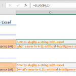 How to slugify a string with Excel