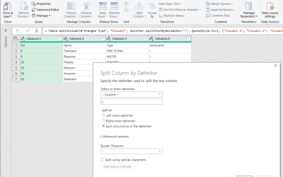 How to split text with Power Query in Excel