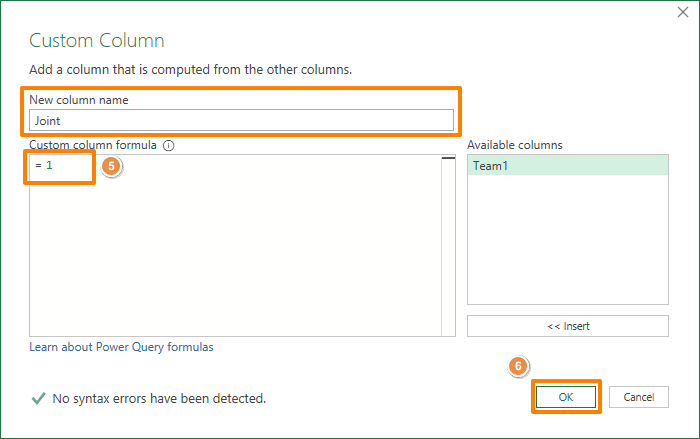 How to find all combinations of two lists in Excel 05