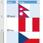How to insert country flags in Excel