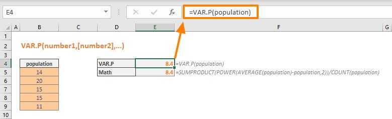 Function: VAR.P