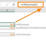 Excel VAR Function