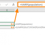 Excel VARP Function