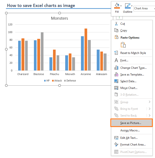 How to save Excel charts as image 01-min