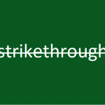 How to strikethrough in Excel