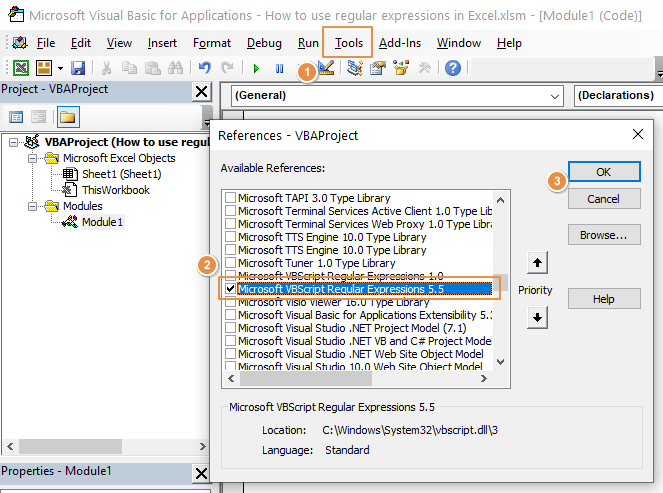 How to use regular expressions in Excel 02