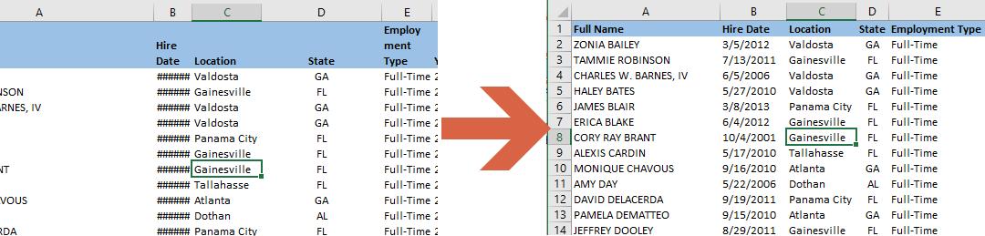 How to autofit columns using macros in Excel