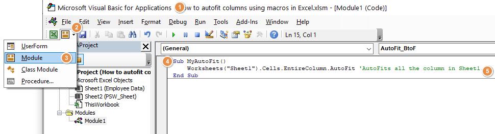 How to autofit columns using macros in Excel 02