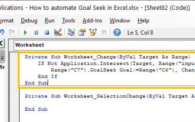 How to automate Goal Seek in Excel