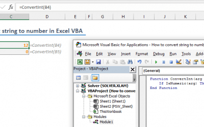 How to convert string to number in Excel using VBA