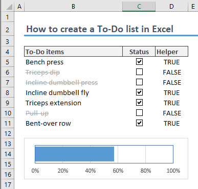 How to create a To-Do list in Excel 14-min