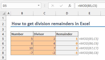 get division remainders