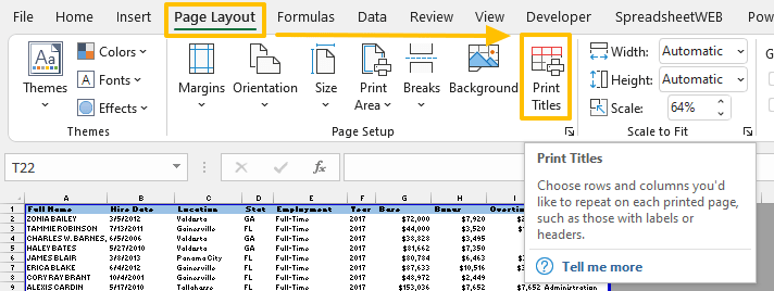 How to print header row and column in Excel 02