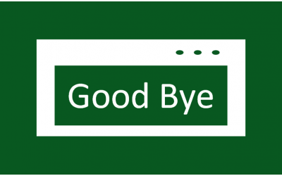 How to show a closing message in Excel